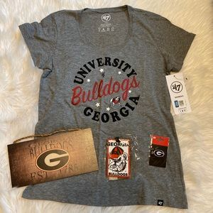 Georgia Bulldog's T-Shirt, Wood Sign, Luggage Tag